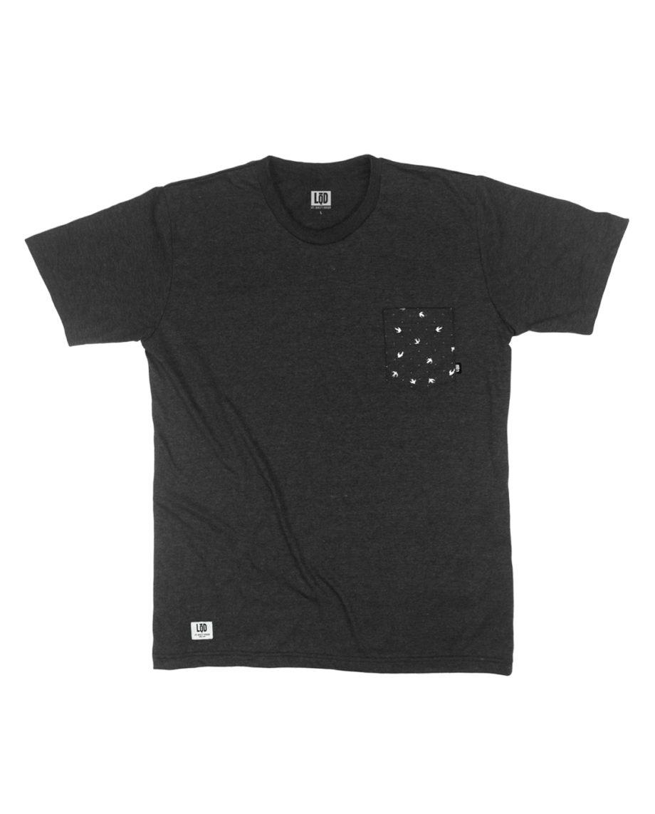 LQD Bird Black pocket t shirt