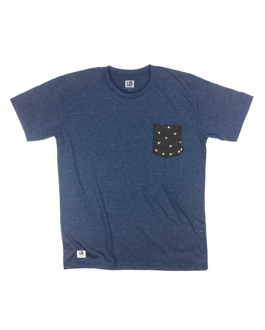 LQD Bird Navy pocket t shirt