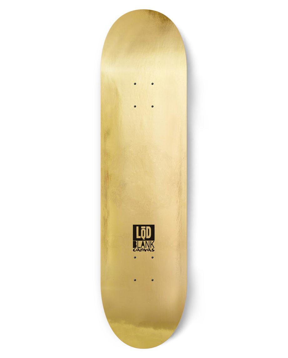LQD Blank Canvas Gold skateboard deck