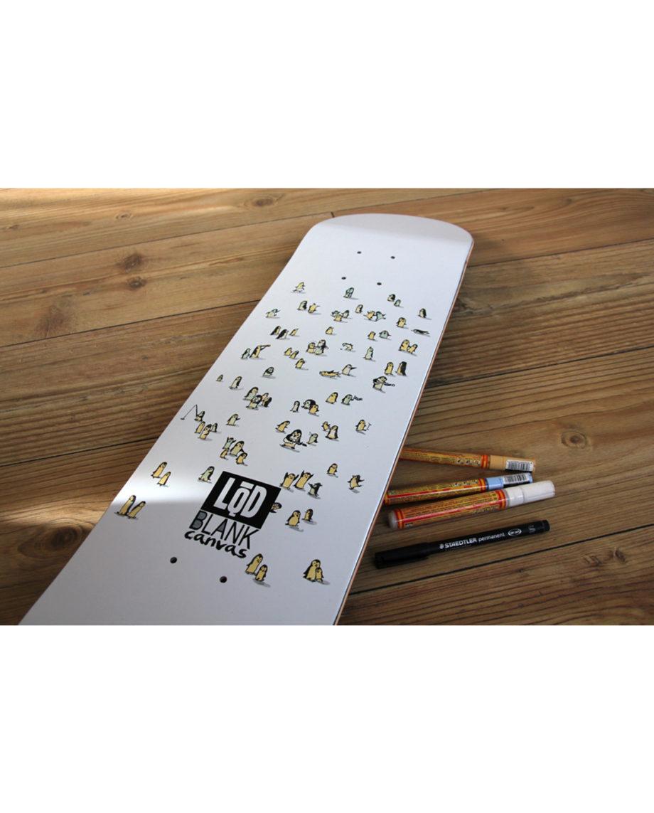 LQD Blank Canvas White skateboard deck