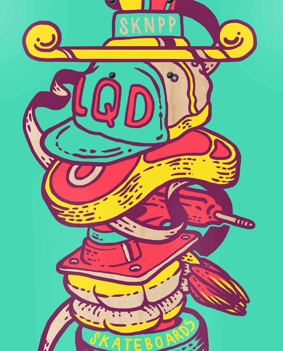 LQD Brochette skateboard deck