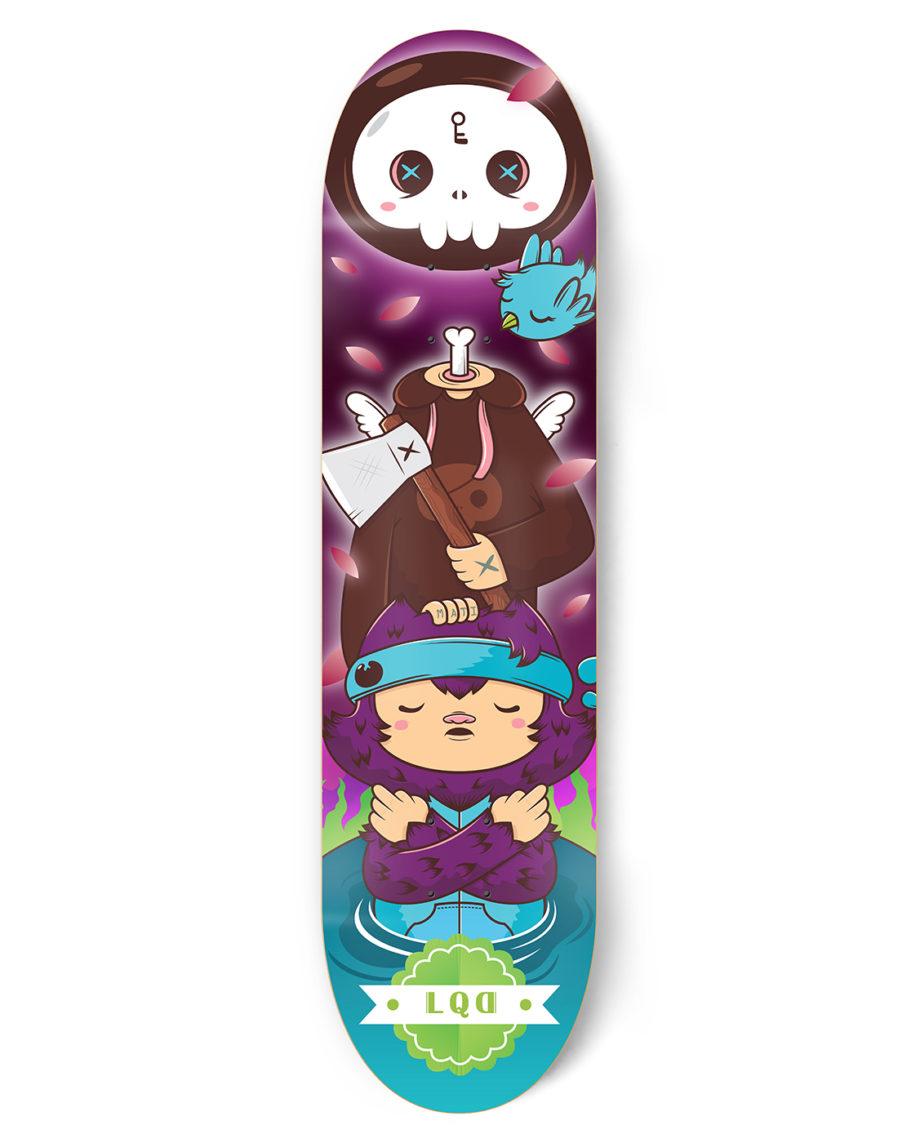 LQD Death is so Near skateboard deck