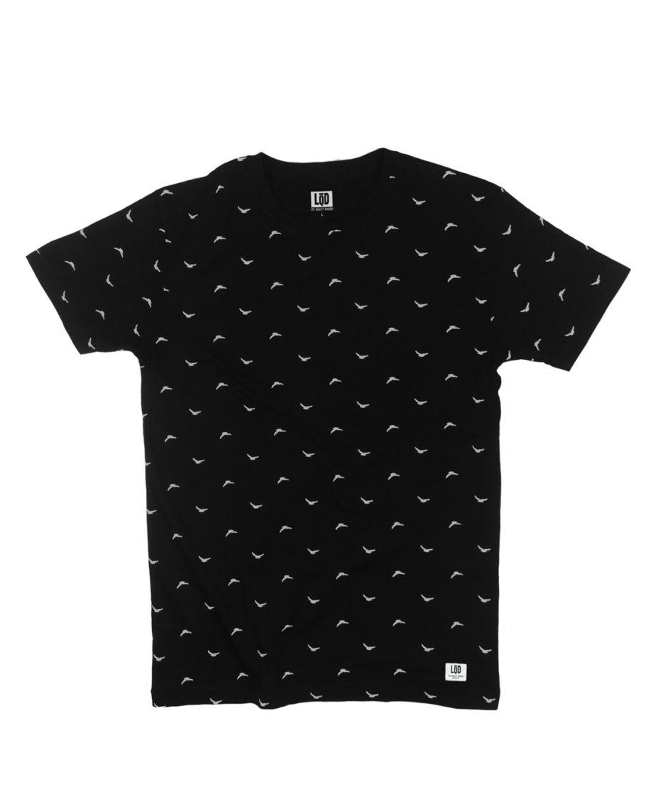 LQD Flock Black t shirt