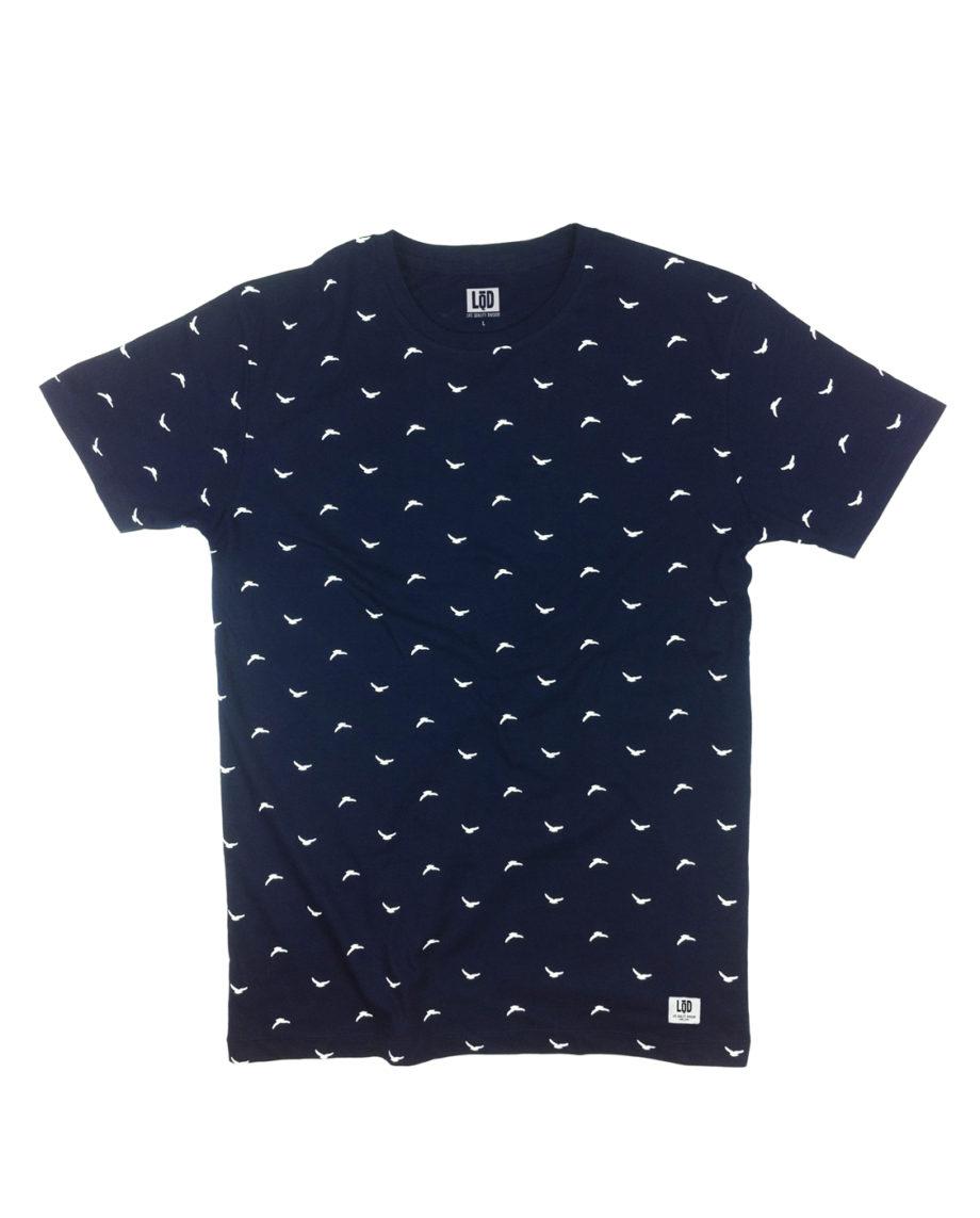 LQD Flock Navy t shirt