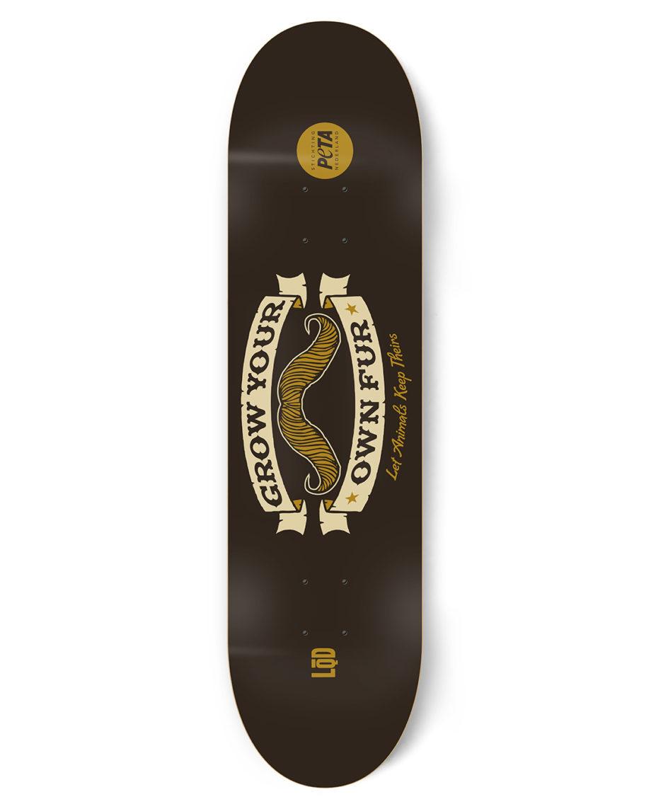 LQD Grow Your Own Fur PETA skateboard deck