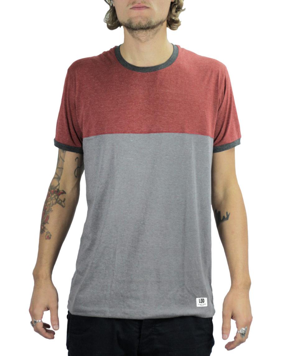 LQD Half Red Grey t shirt