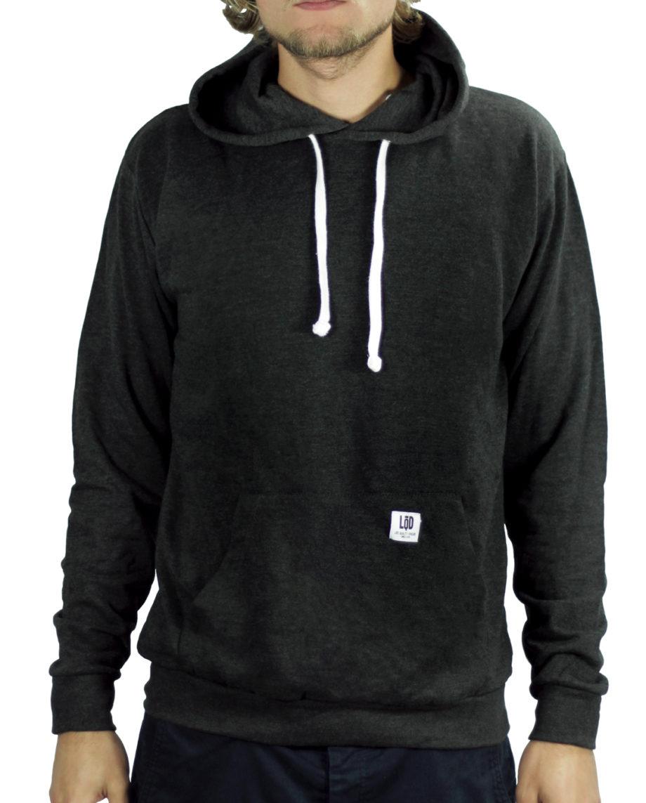 LQD Heather Black hoodie sweater