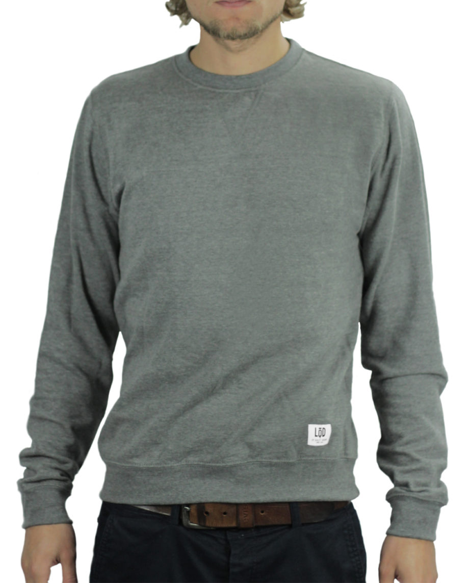 LQD Heather Grey crew sweater