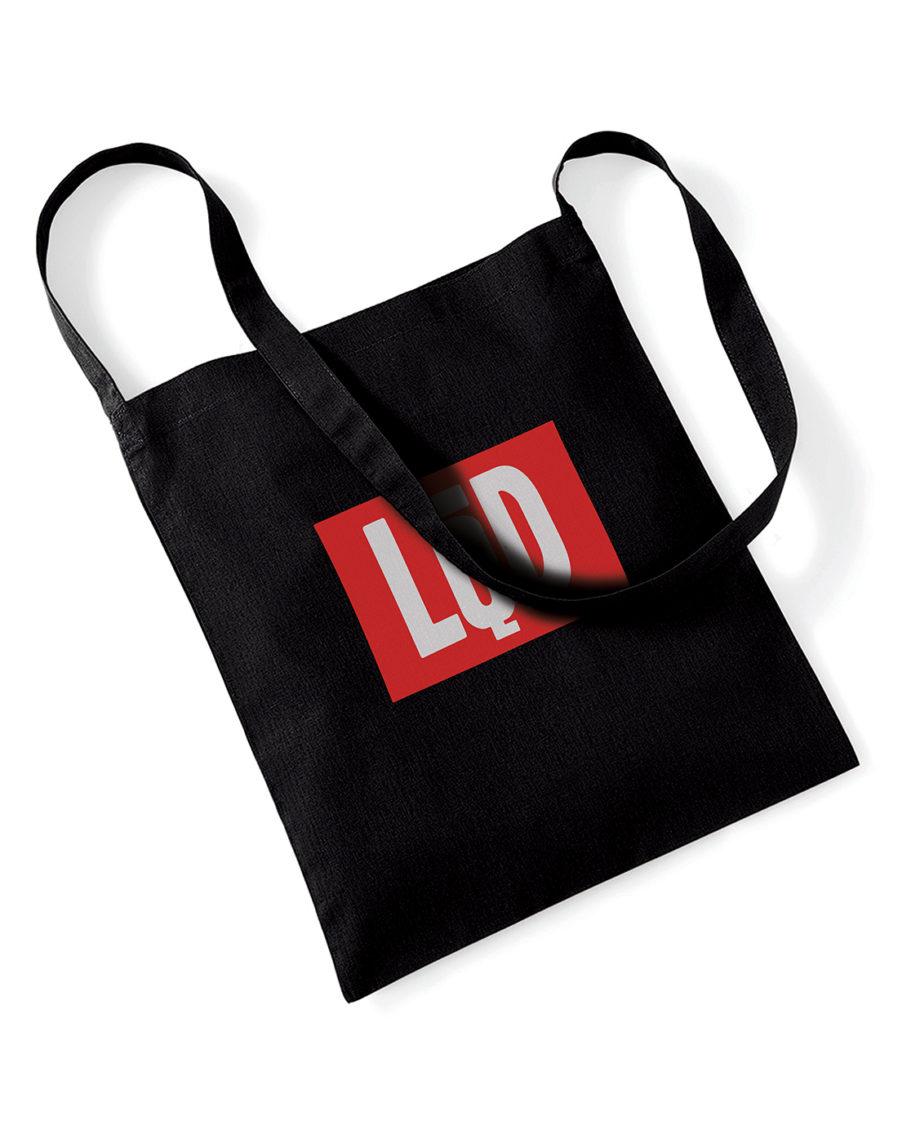 LQD Logo tote bag black