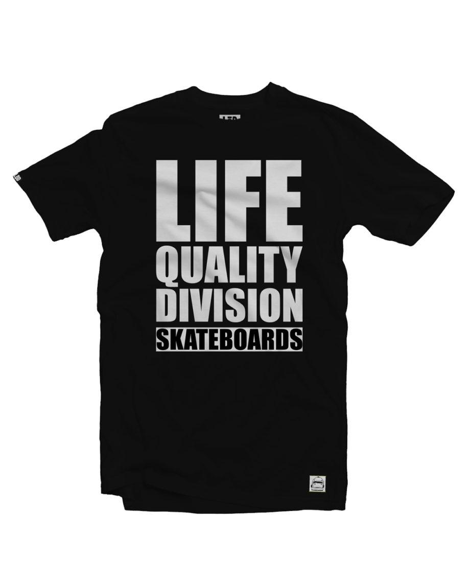 LQD Life Quality Division Black t shirt