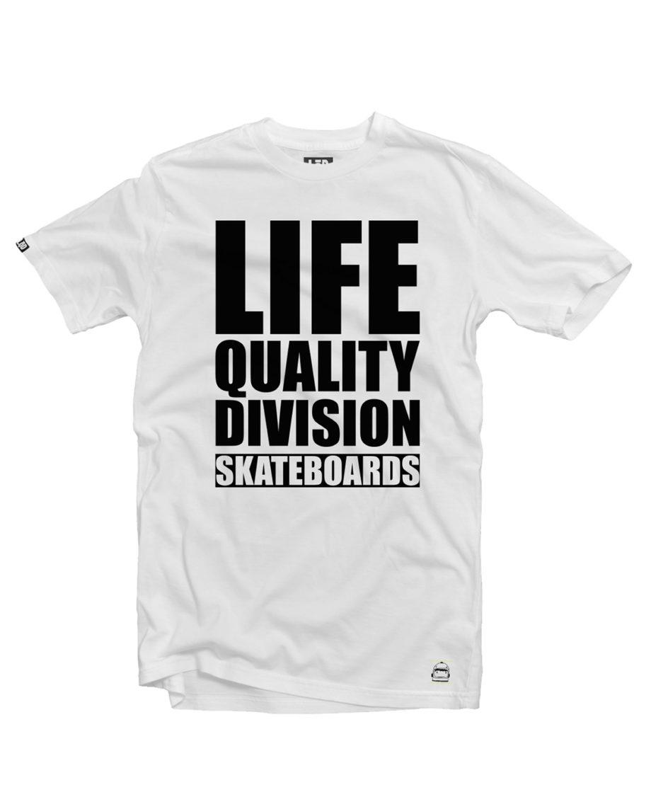 LQD Life Quality Division White t shirt
