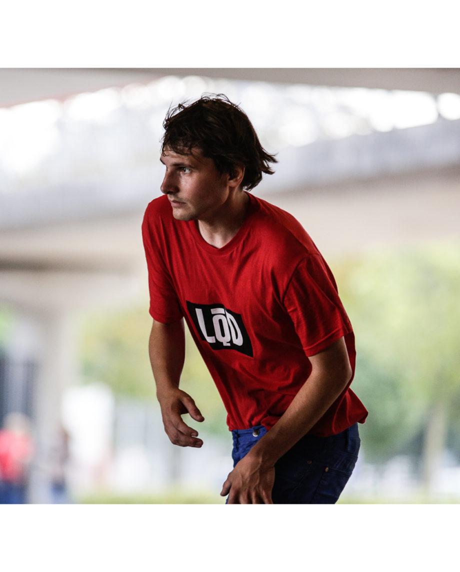 LQD Logo Red t shirt