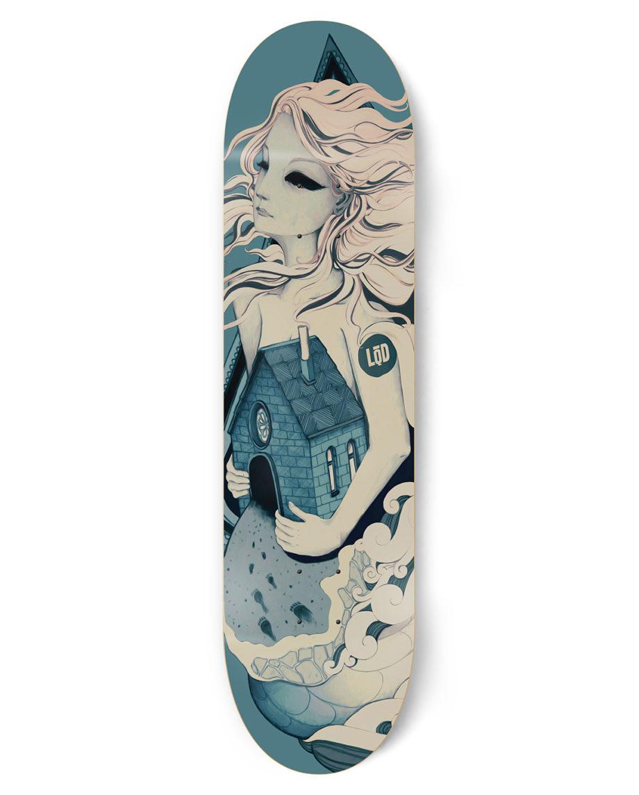 LQD Lost at Sea skateboard deck