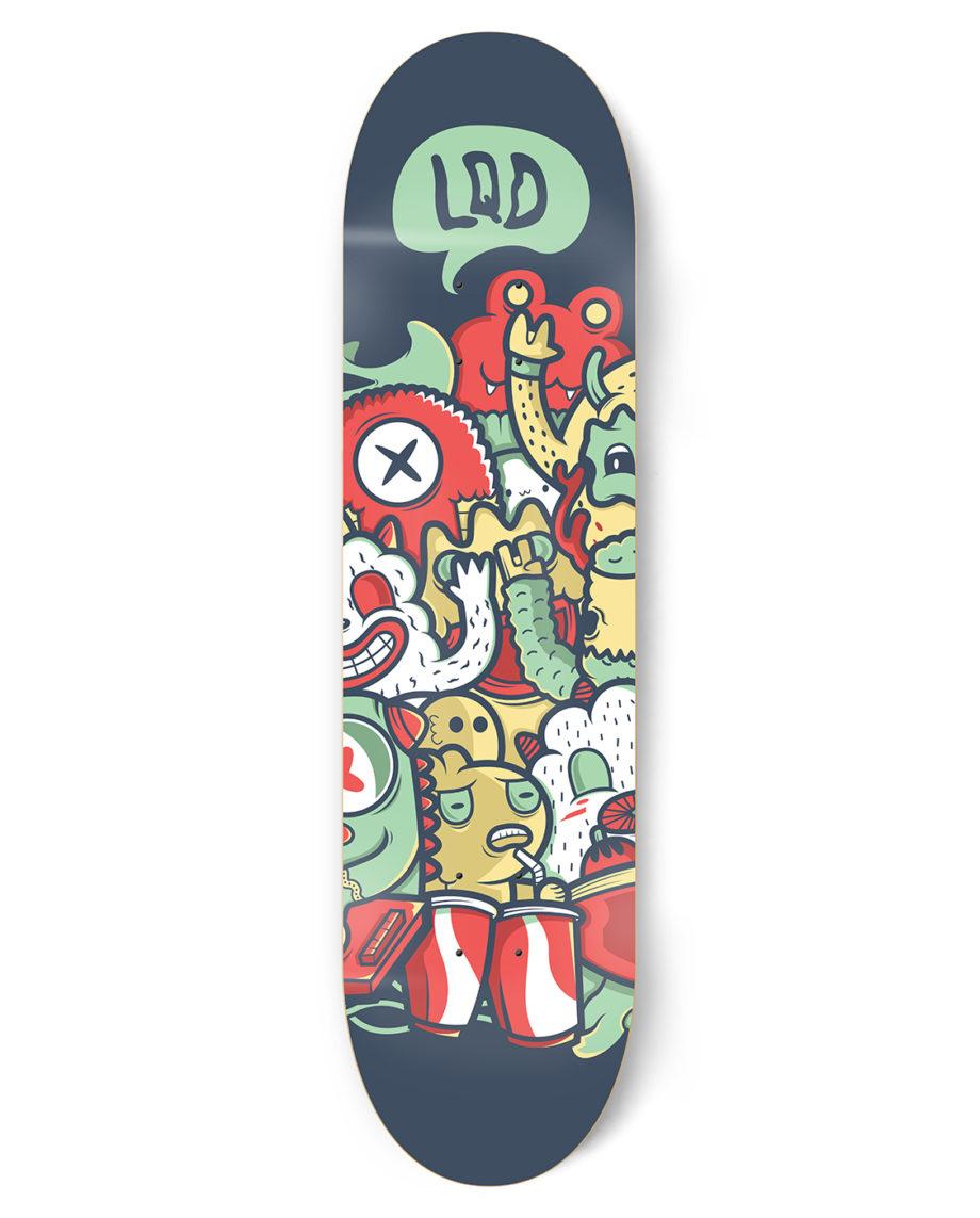 LQD Monster Party skateboard deck