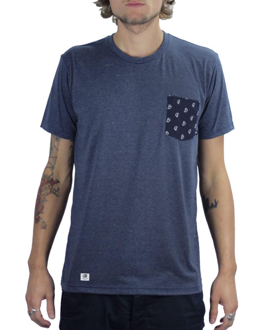 LQD Mr Fox Navy pocket t shirt