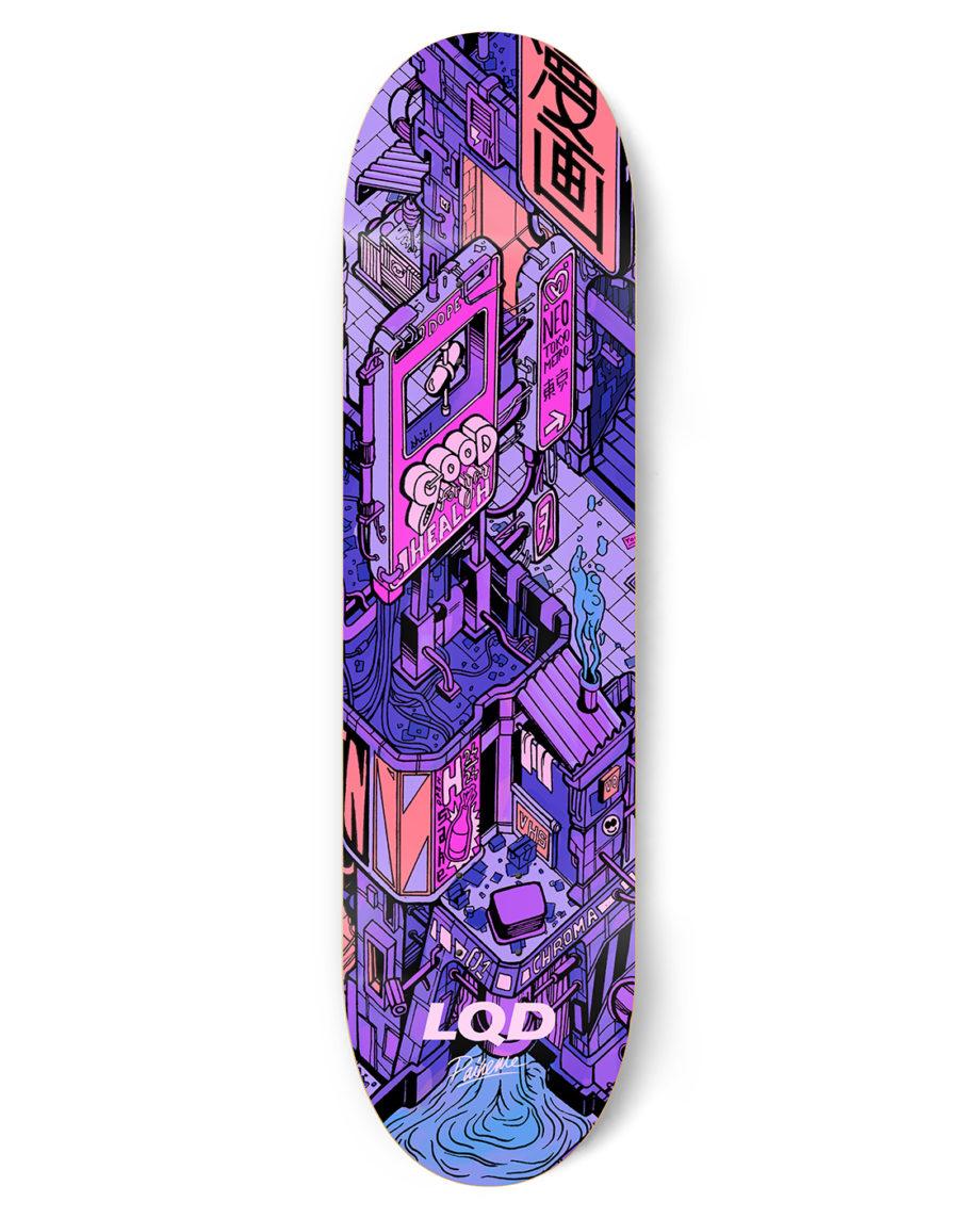 LQD Neo Tokyo pt 2 skateboard deck