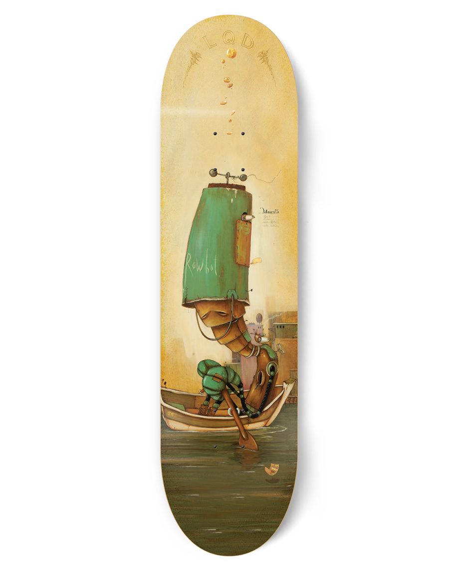 LQD Rowbot skateboard deck
