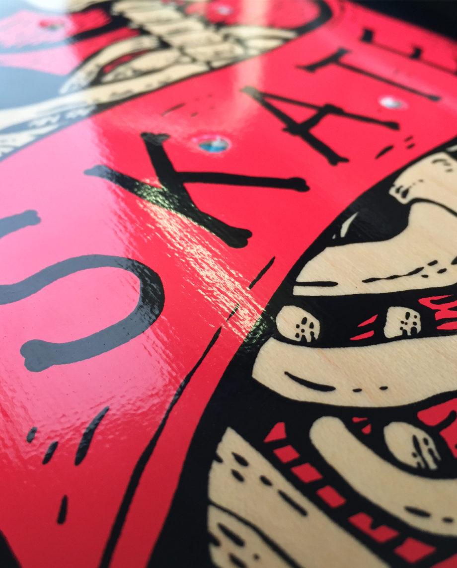 LQD Skate Till Death skateboard deck
