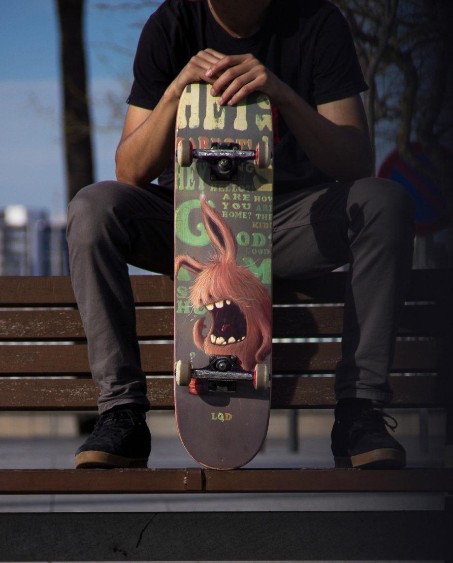 LQD Small Talk skateboard deck