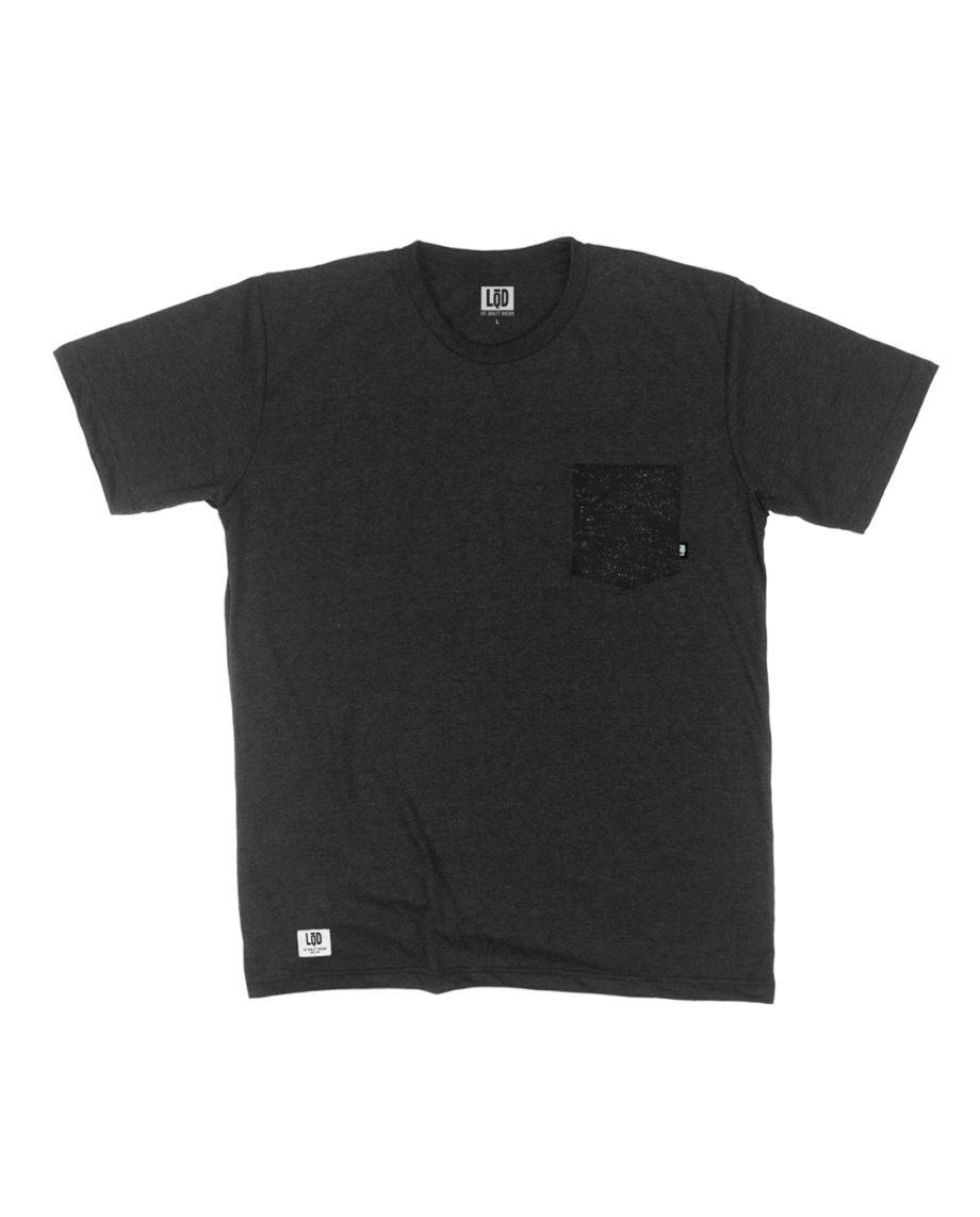 LQD Speckle Black pocket t shirt