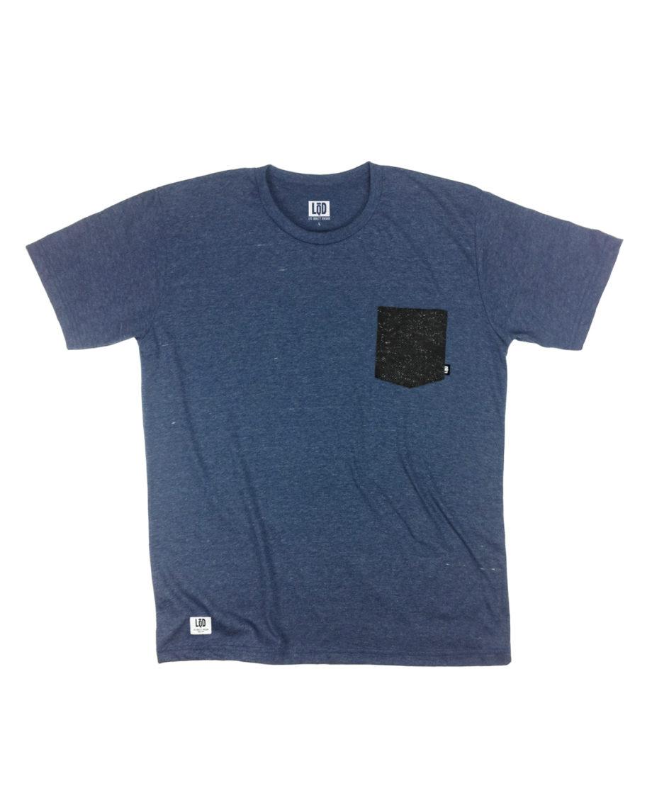 LQD Speckle Navy pocket t shirt