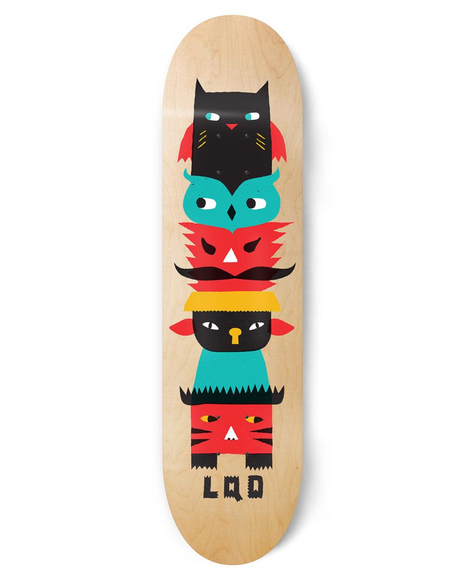 LQD Totem skateboard deck